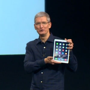Тим Кук представляет планшет Apple iPad Air 2