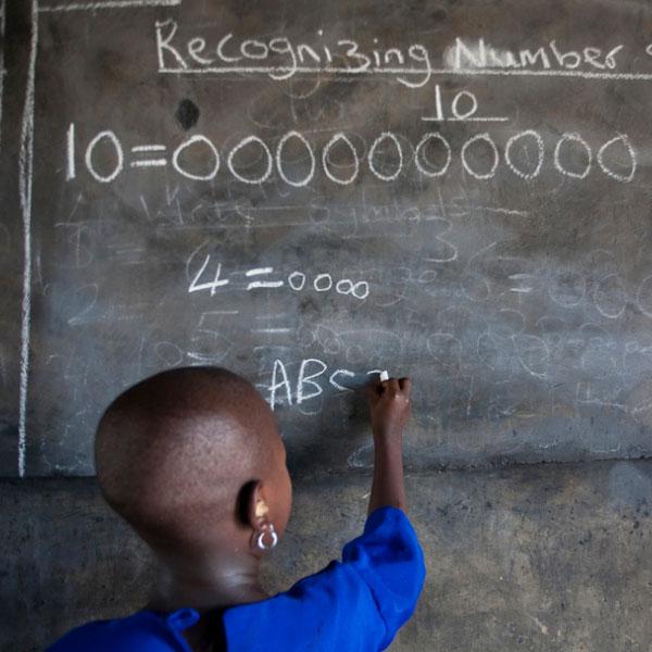Урок в школе в Нигерии