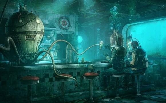 Подводный робот... из мира фэнтези. Фото (с) wallpaperfly.com