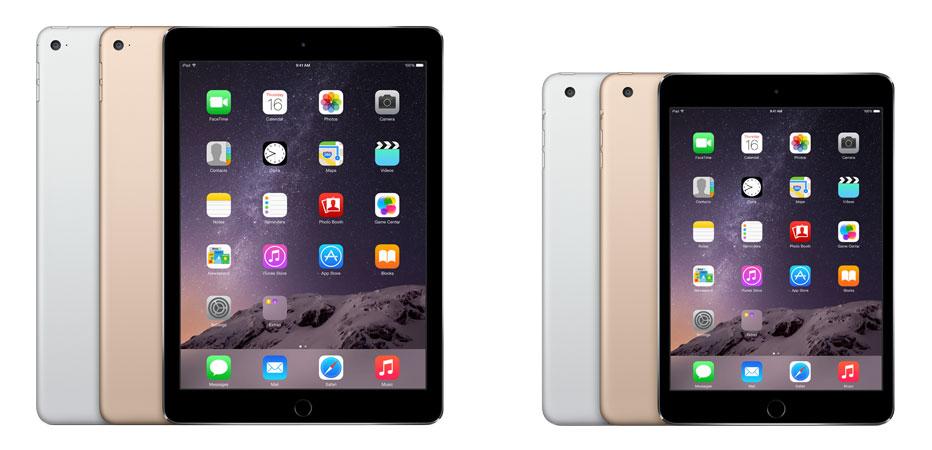 Apple iPad Air 2 и iPad mini 3