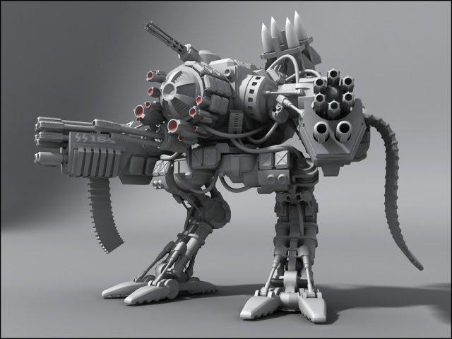 концепт роботизированного оружия