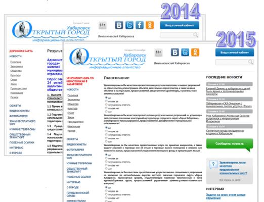 Сайт информационного агентства «Хабаровск. Открытый город»