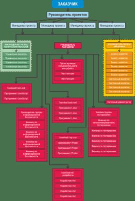 Предполагаемая структура организации проекта исполнителем
