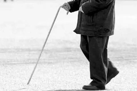старик палочка пожилой
