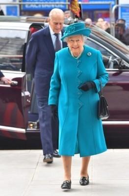 Королева Елизавета II и ее супруг принц Филип, герцог Эдинбургский, прибыли на открытие Центра кибербезопасности. Фото (с) EPA