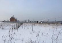 земля земельный участок зима деревня