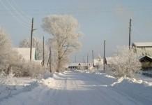 село деревня снег зима