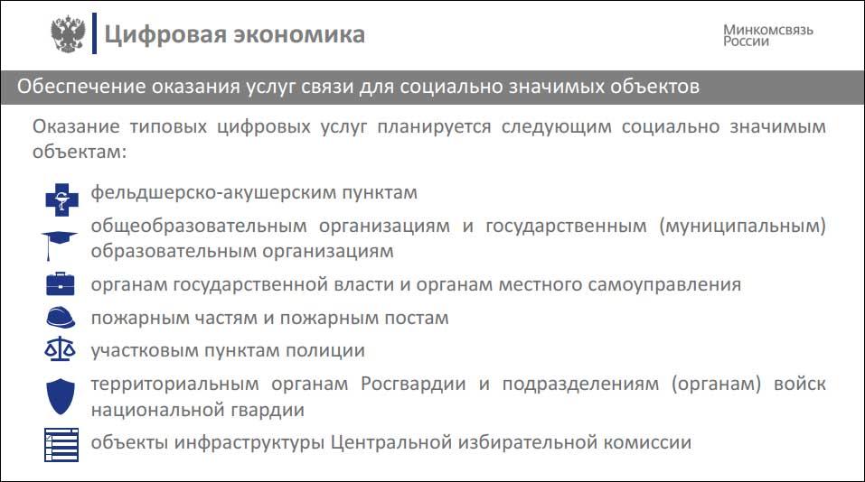 Минкомсвязь рассказала о деталях проекта по развитию инфраструктуры связи
