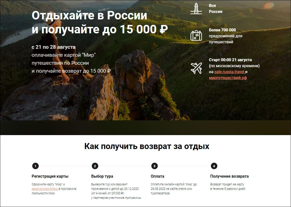 Подписано постановление о возмещении гражданам расходов на турпоездки по стране, оплаченные картой «Мир»