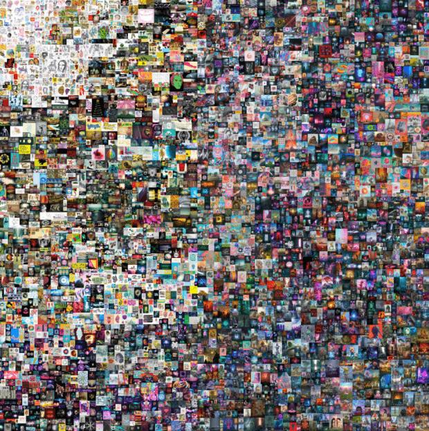 Картина в jpeg с цифровым удостоверением подлинности продана за млн