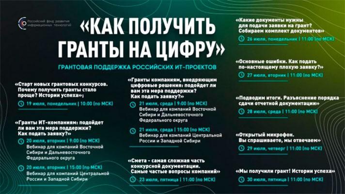 Минцифры объявило о начале конкурса IT-проектов на право получить грант РФРИТ