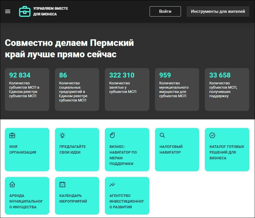 В Пермском крае заработал онлайн-сервис информирования о мерах поддержки МСП